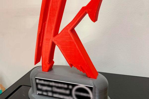Imprimir trofeo 3D en Madrid